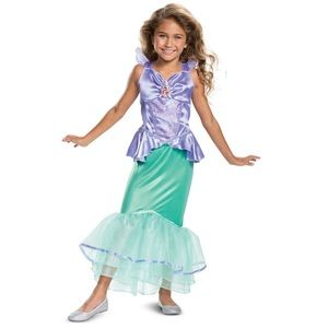 Girl's Ariel Classic Toddler Halloween Costume New